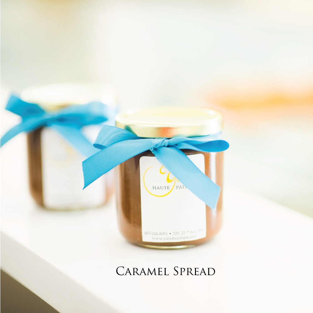 Caramel spread from Yann Haute Patisserie, From Chef Yann Blanchard, Calgary, Alberta