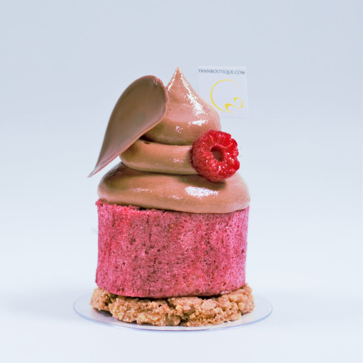 Raspberry and chocolate Yann Haute Patisserie cake
