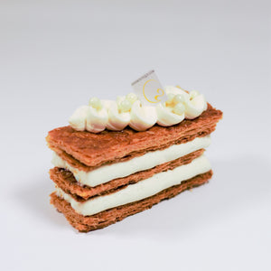Classic French desserts for delicious cakes in Calgary, presenting the Mille-feuille!