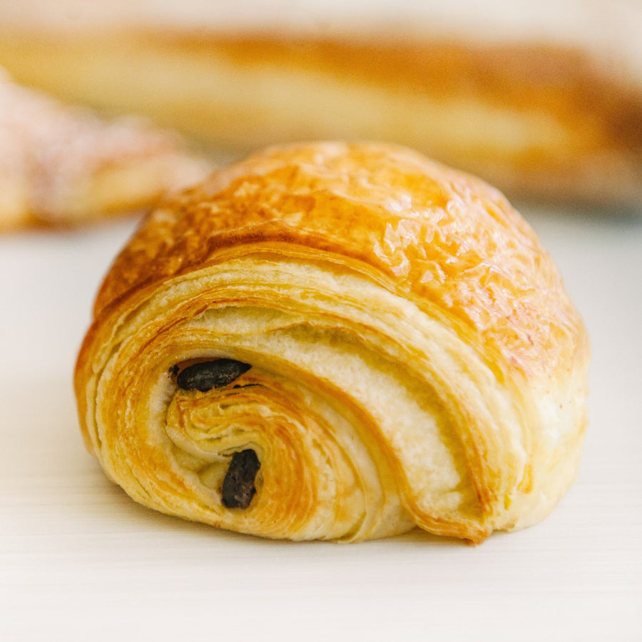 Pain au chocolat by Yann Blanchard for the best chocolate croissant in Calgary!