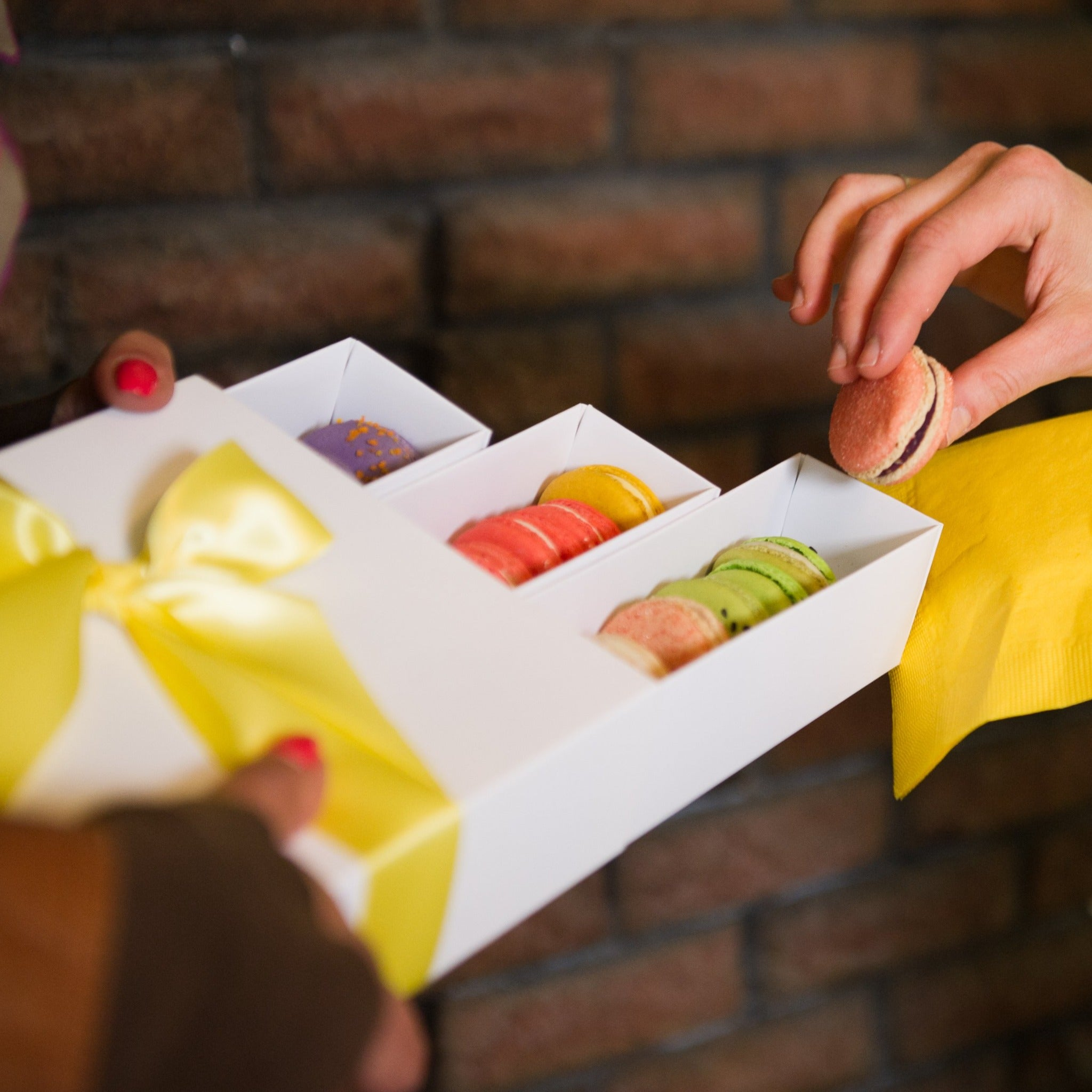 Macarons make special business and corporate gifts.