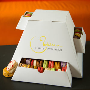 A pyramid of macarons for the best gift ever from Yann Haute Patisserie!