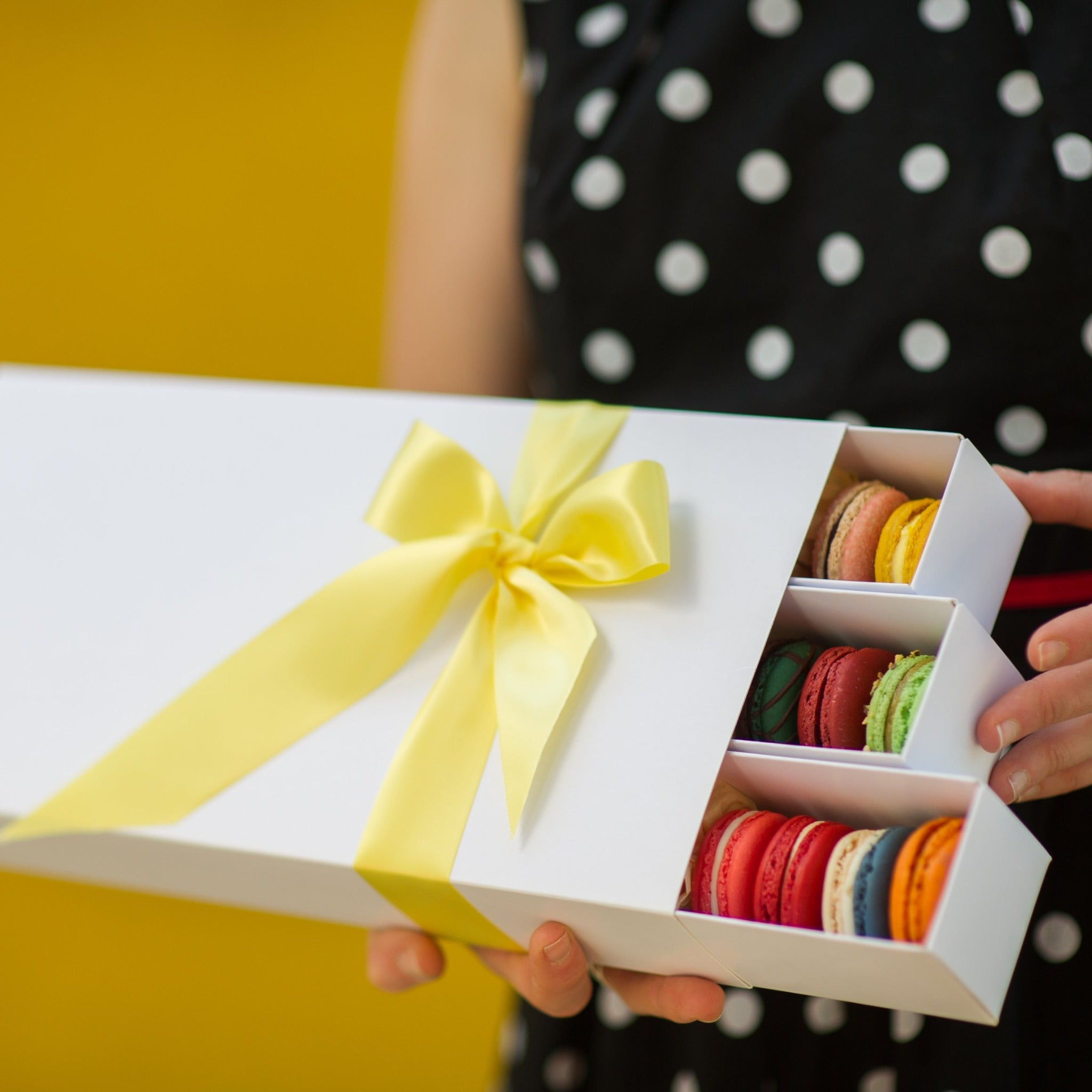 Such a lovely gift of love and macarons!