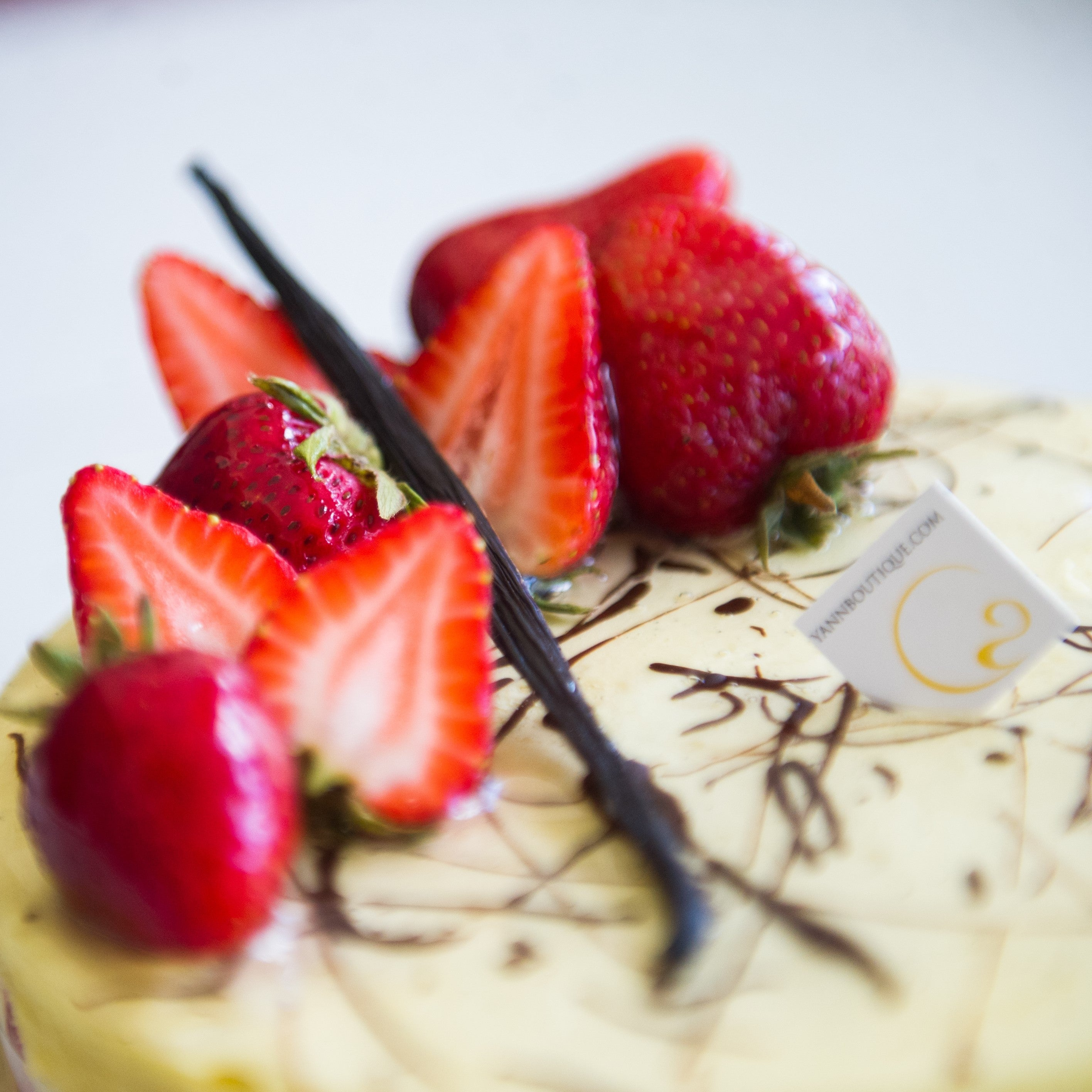 Our manager's favorite! Fraisier cake for July is the best of strawberries and vanilla, best choice of Calgary!