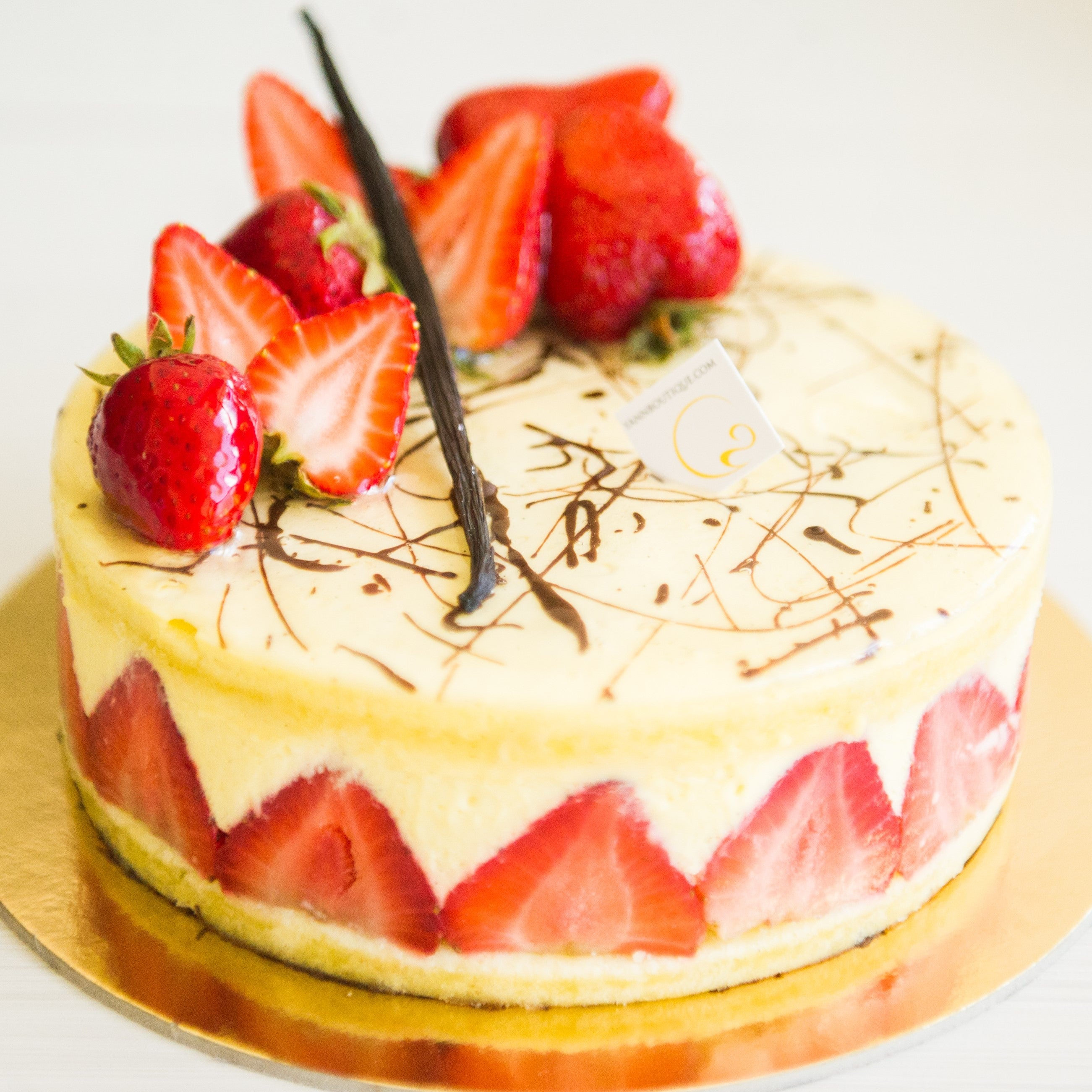 Fraisier cake the best of strawberries and vanilla, best choice of Calgary!