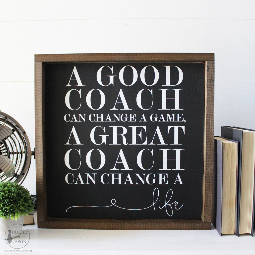 Coach Gift, Gift for coach, a great coach, football, baseball, cheerleading, soccer, sports gift, Gift idea, wood signs, wooden sign, black and white, rustic signs, office decor, office, Thank you gift, coach gifts, best coach gifts, unique coach gifts, most popular coach gifts, trending gifts of 2018