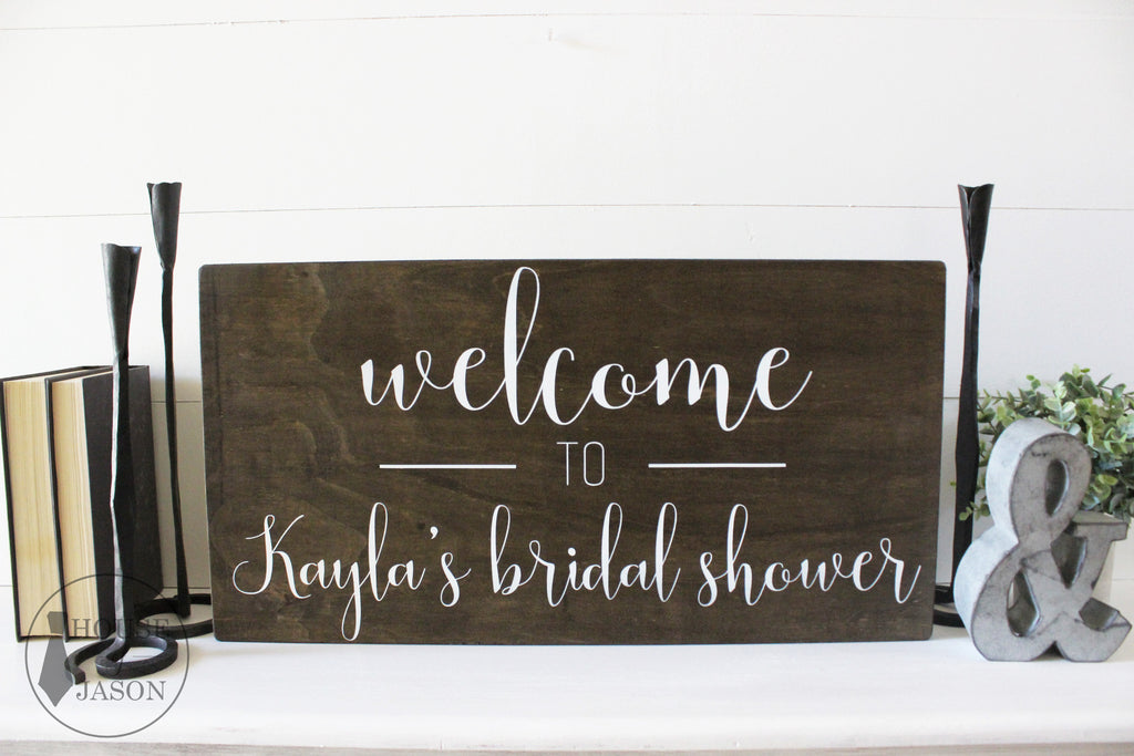 Rustic Bridal Shower Signs, Welcome Bridal Shower Sign, House of Jason, Welcome to our wedding, Bridal Shower signs, wood signs, Bridal Shower wooden signs, Rustic Bridal Shower Decor, Bride to be signs, Bridal Shower