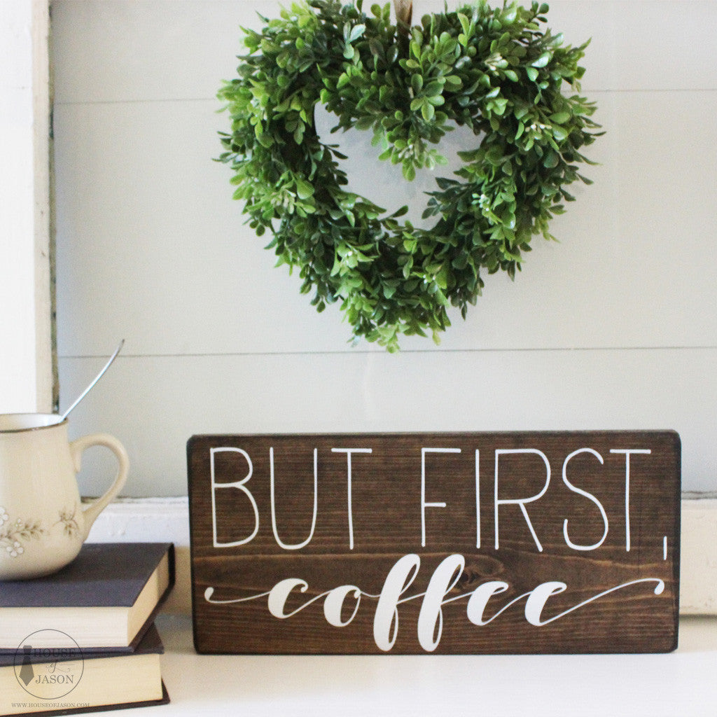 But First Coffee Sign, Coffee Bar, Coffee Signs, Wood Signs, House Of