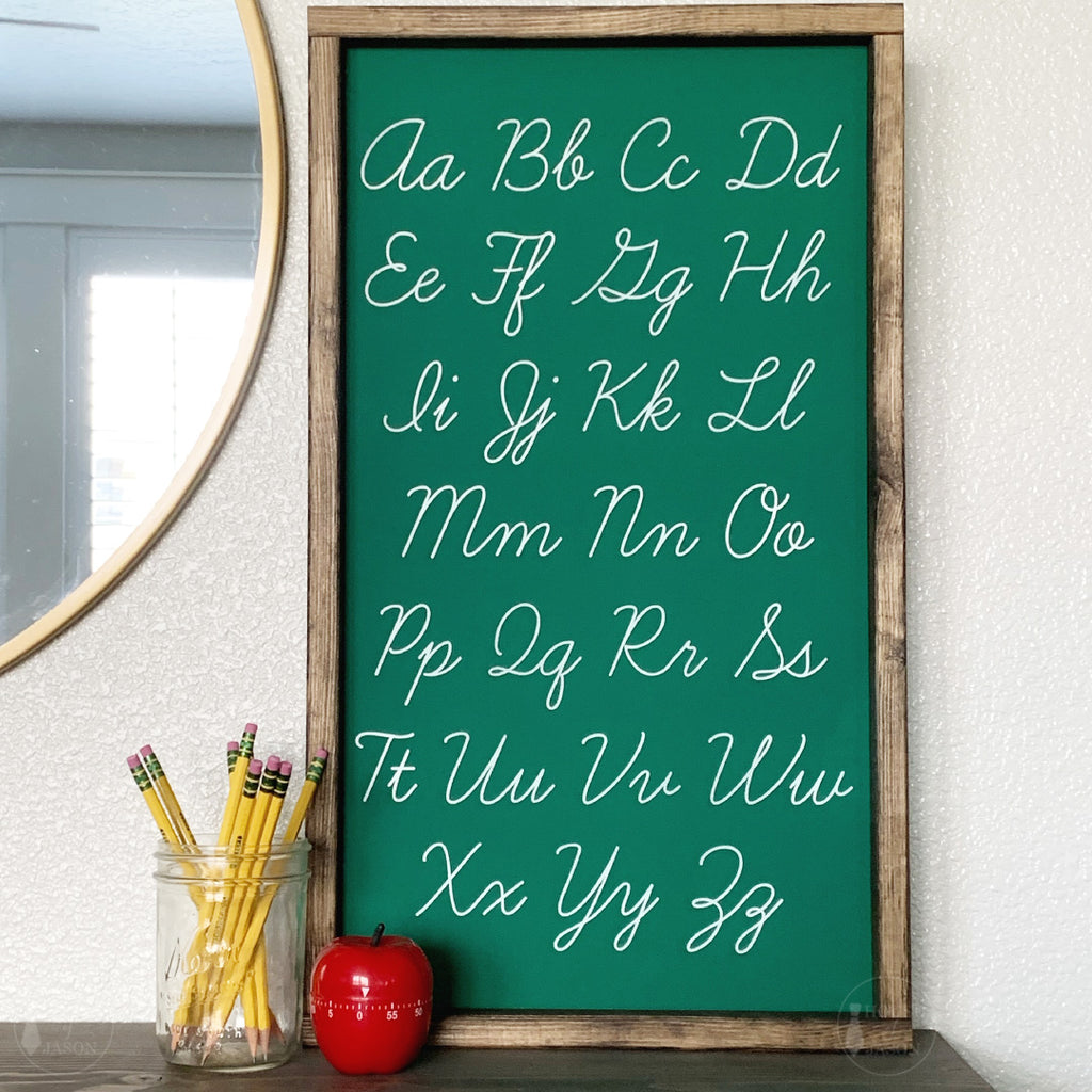 Vintage Cursive Handwriting Wooden Sign | 13 x 25