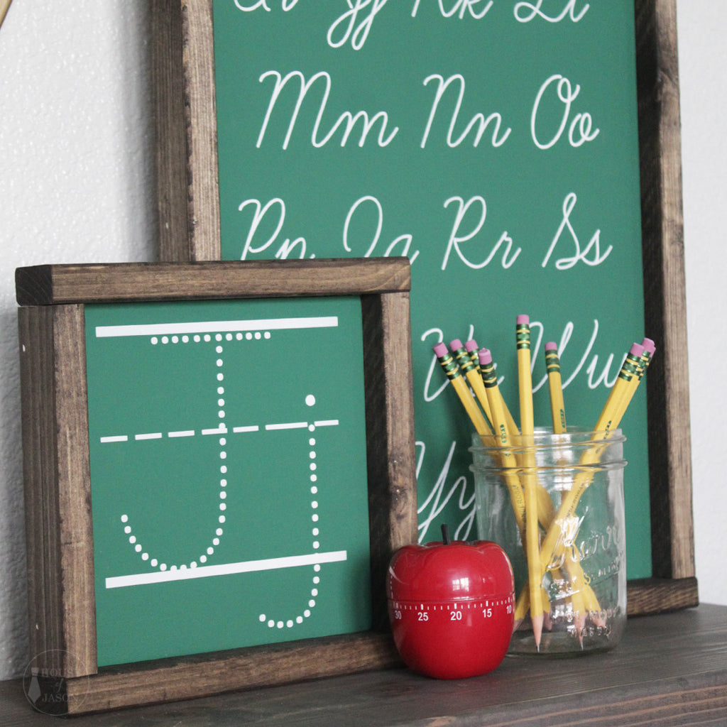 Personalized Dotted Letter Wooden Sign | 8 x 8