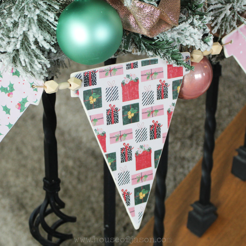 READY TO SHIP | Glam Christmas Wood Banner