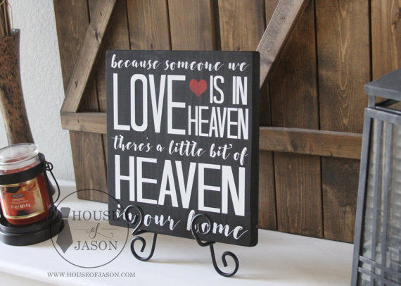 Heaven in Our Home Wooden, Hand Painted Sign | 12 x 12