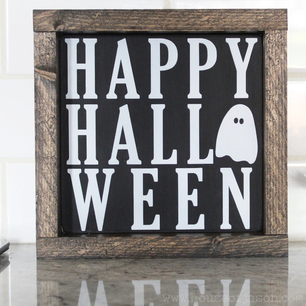 Halloween Decorations, Halloween Decor, Halloween Signs, Hand Painted Wood Signs, House of Jason, www.houseofjason.com, ghosts, boo, trick or treat