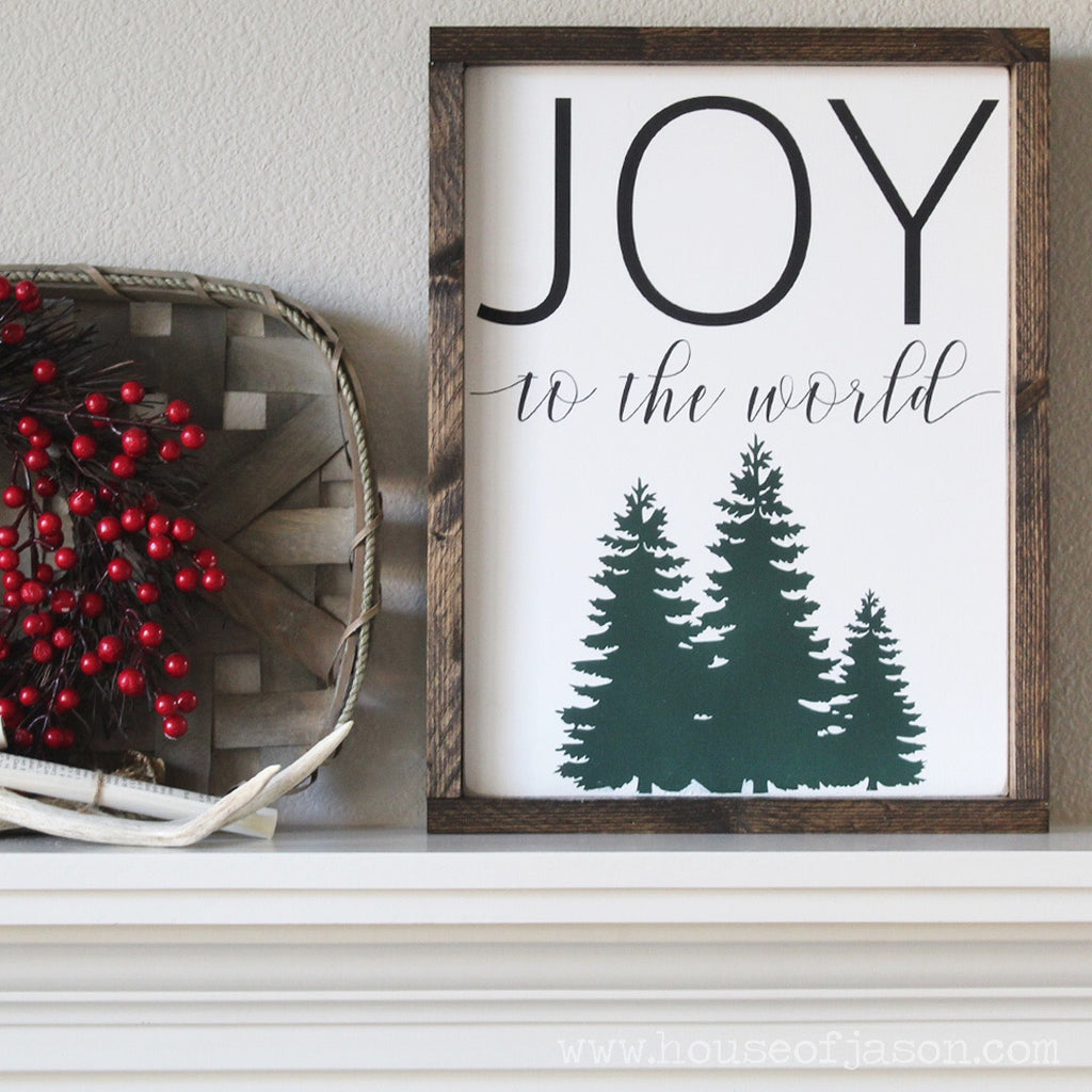 Joy to the World, Christmas, Hand Painted Wooden Sign | 12 x 16