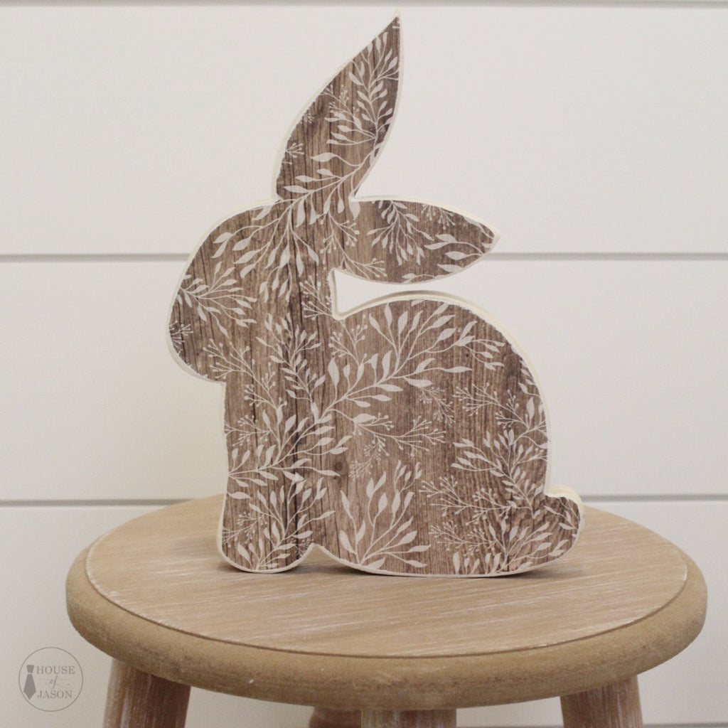 Wood Grain, Shelf Sitter, Wooden Bunny