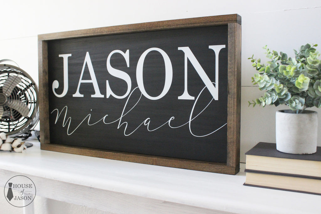 Personalized Child's Name, Child's Room, Wooden Sign | 24 x 13