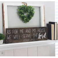As for me and my house, we will serve the Lord, Joshua 24:15, Scripture Signs, Wood Signs, Religious Decor, Verse Signs, Hand Painted Signs, House of Jason