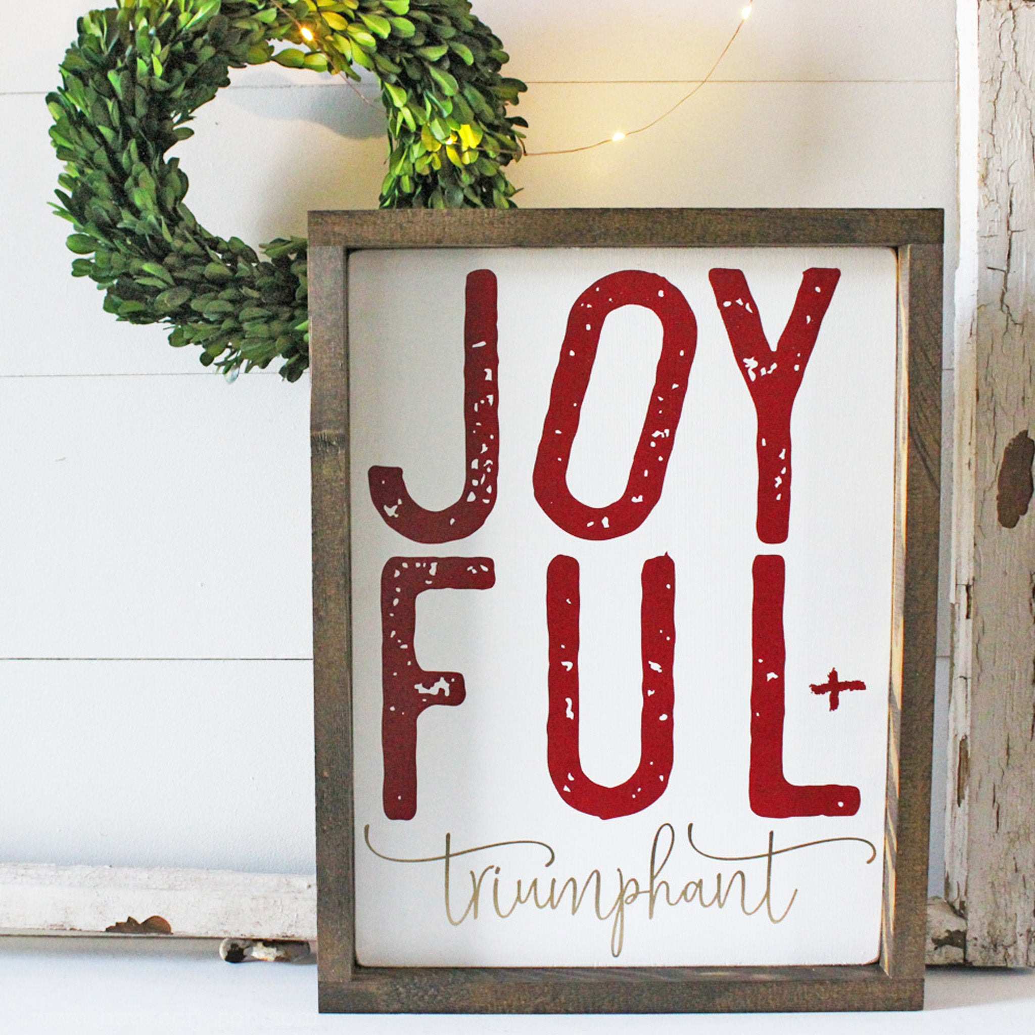 christmas decor joyful and triumphant christmas signs christmas merry christmas joy - Merry Christmas Wooden Sign