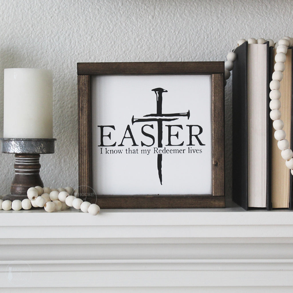 My Redeemer Lives Wooden Sign | 8 x 8