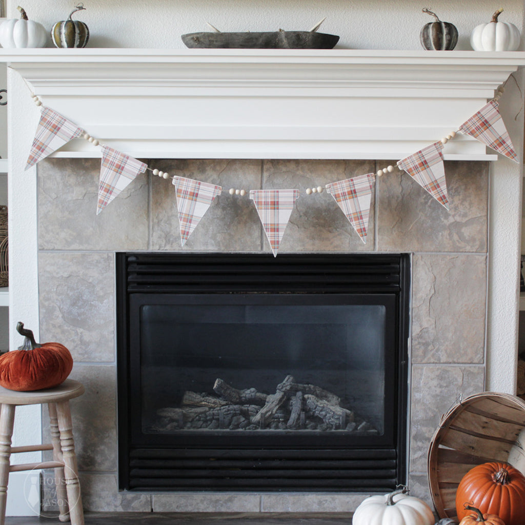 """Thanksgiving Flannel"" Wooden Banner"