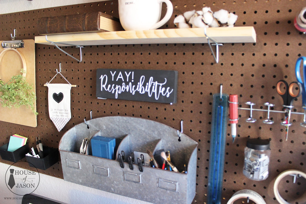 READY TO SHIP | Yay! Responsibilities, Hand Painted, Funny, Wooden Sign | 4 x 10