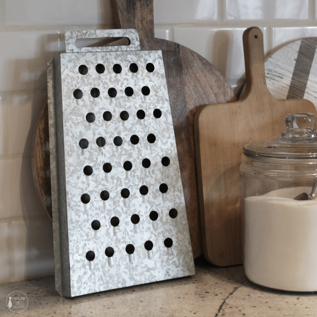 Galvanized Metal Cheese Grater Wall Decor