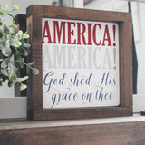 4th of july, 4th of july decor, 4th of july bbq, 4th of july signs, wood signs, house of jason, hand painted signs, let freedom ring, USA, United States of America, America History, history, God, America the beautiful