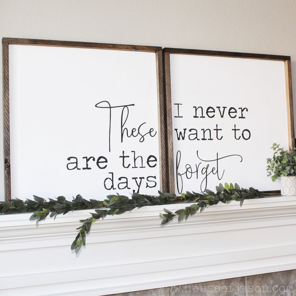 These Are The Days (Set of 2), Hand Painted Wooden Signs | 2' x 2'