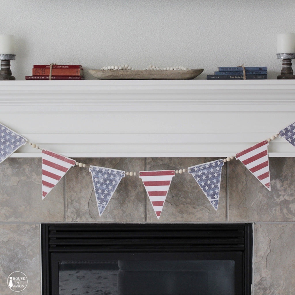 Stars and Stripes Wooden Banner