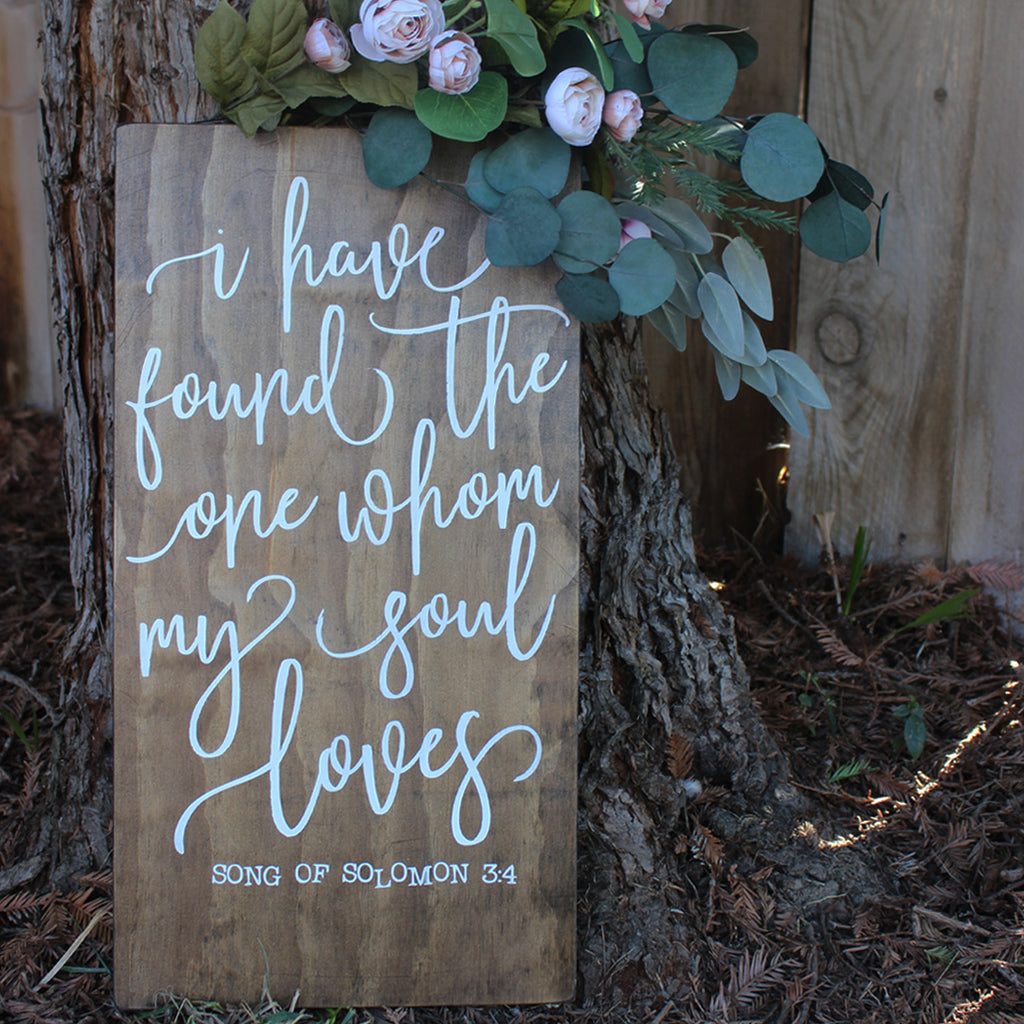 Beautiful wedding signs, scripture wedding signs, bridal shower welcome signs, custom farmhouse signs, elegant signs, wood decor, rustic wedding signs, barn wedding decor, barn wedding ideas, wedding decor, custom wood signs, romantic, bride and groom