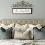 READY TO SHIP - Truly, Madly, Deeply Wooden Sign (10 x 36)