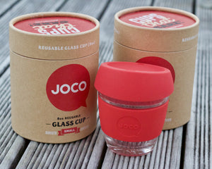 Joco Reusable Glass Cup (Red)