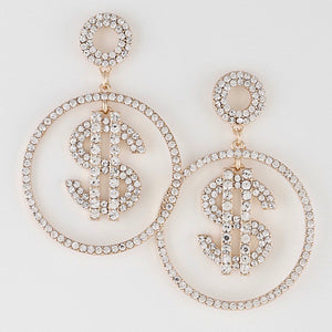 Dollar Sign Earrings - UnKlad The Brand