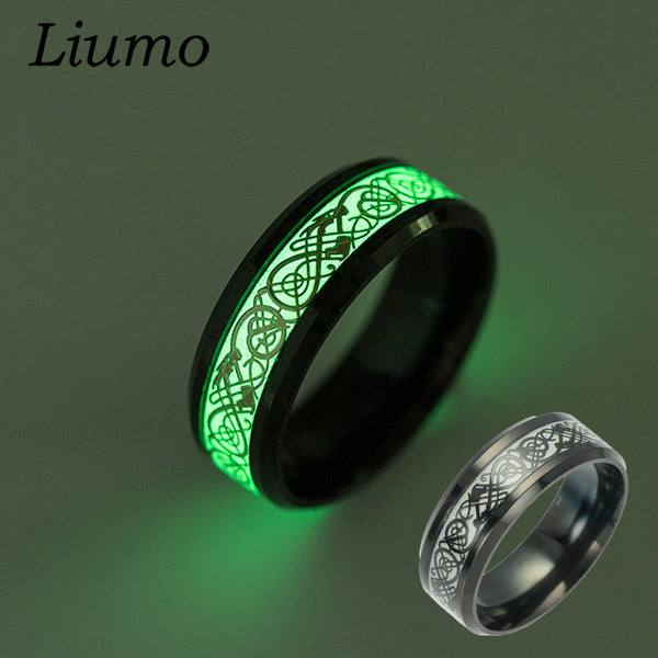 Glow In The Dark Stainless Steel Dragon Ring