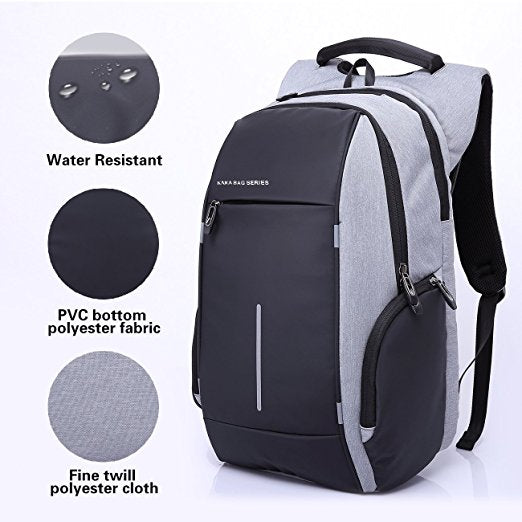 35d47df42e Business Oxford Laptop bag Anti Theft Computer Travel Backpack Water  Resistant Up To 15 Inch Laptop and Notebook with Reflective Stripes