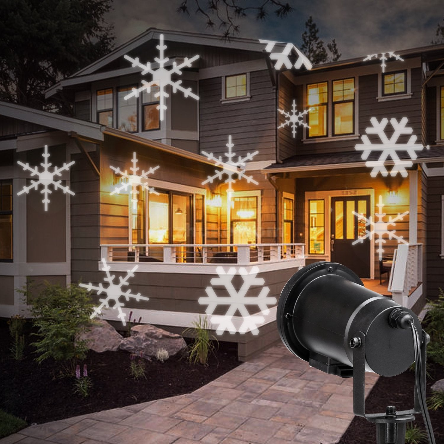Christmas Projector Lights.Christmas Projector Lights Led Moving White Snowflakes Spotlight Landscape Projector Decorations Light For Party