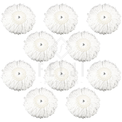 10 Replacement Microfiber Mop Head Refill For Hurricane Magic Mop 360 Spin Felji
