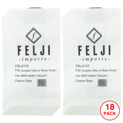18 Pack Felji RR Micro Filtered Vacuum Bags for Eureka Boss Smart Vac 4800 #61115