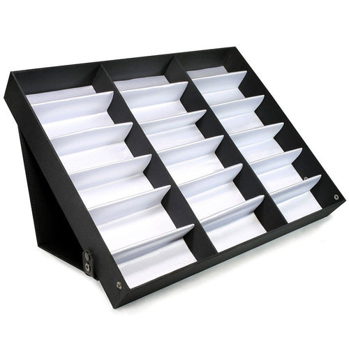 Felji 18 Piece Sunglass Eyewear Display Tray Case Stand