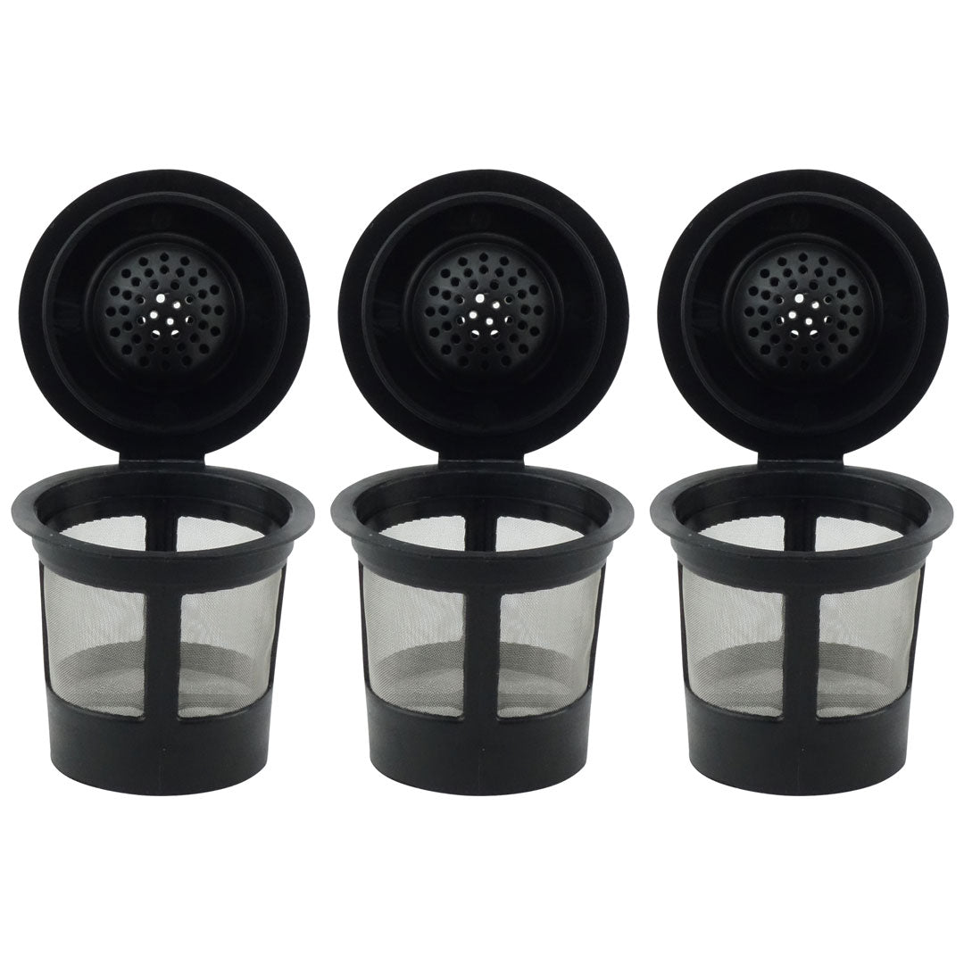 3 Pack Keurig Single K-Cup Solo Reusable Coffee Filter Pods Stainless Mesh for K10 K15 K40 K45 K55 K60 K65 K70 K75 K79