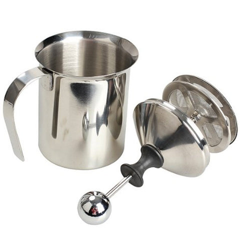 Felji 400ml Stainless Steel Milk Frother Double Mesh