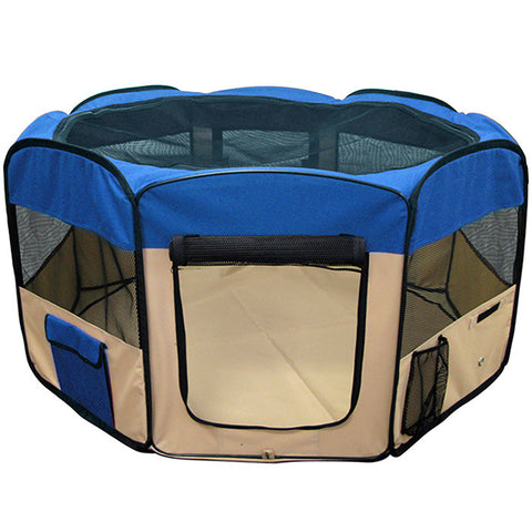 Pet Playpen Dog Puppy Folding Exercise Kennel 45 Inch Blue