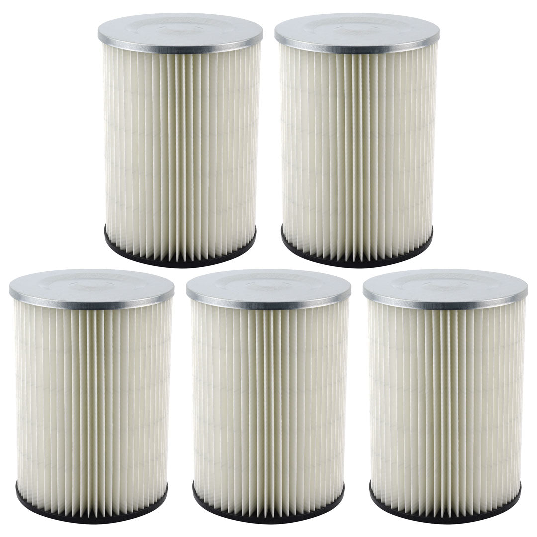 5 Pack Felji Shop-Vac 90328 Ridgid Replacement Cartridge Filter for Craftsman and Ridgid Brand Vacuums