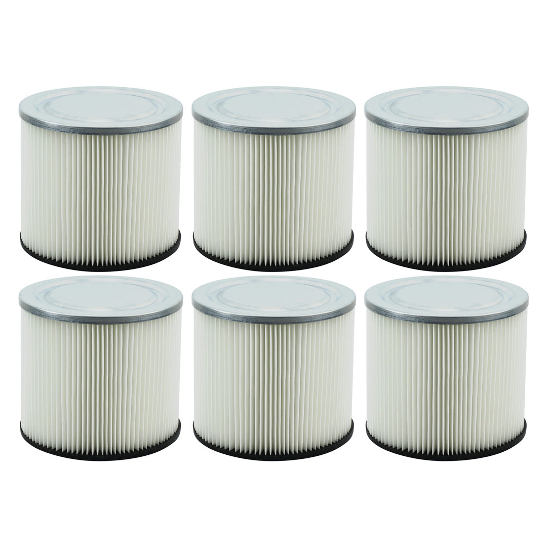 6 Pack Shop-Vac 90304 9030400 Cartridge Filter Replacement Type U fits Wet & Dry Vacs