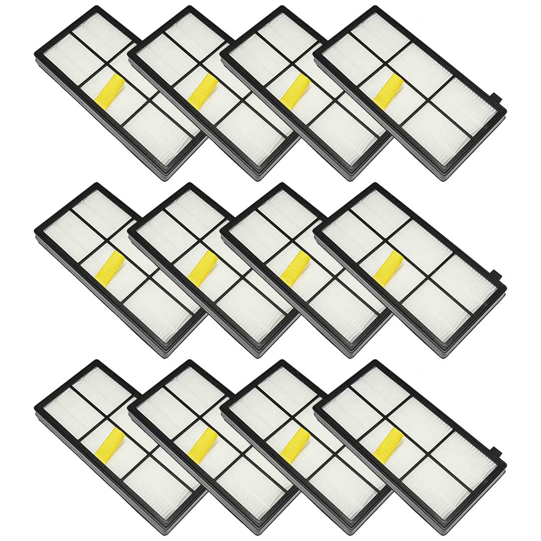 Felji 12 Pack Replacement AeroForce High-Efficiency Filters For iRobot Roomba 800 and 900 Series Part # 4415864