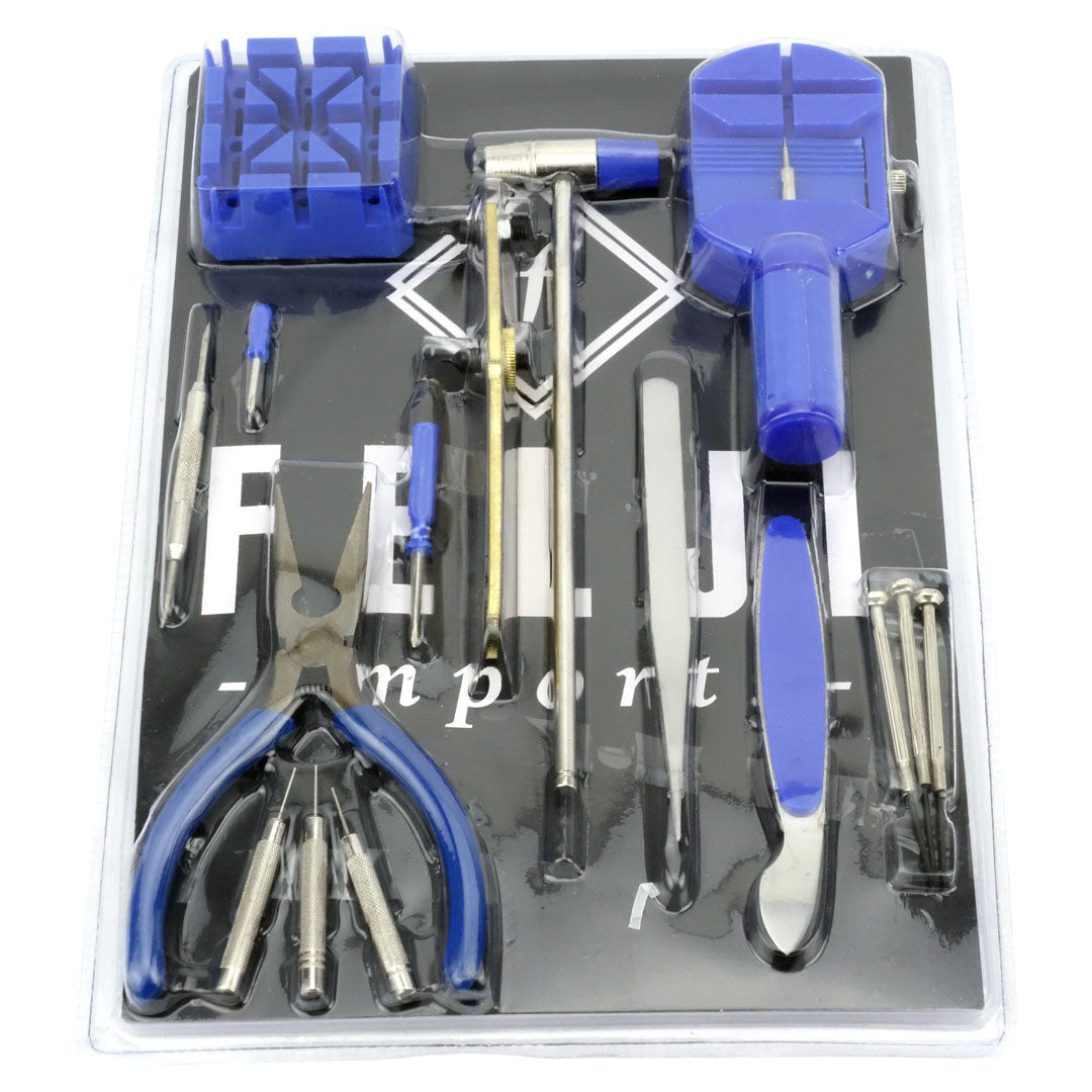 Felji 16-Piece Professional Watch Jewelry Repair Tool Kit