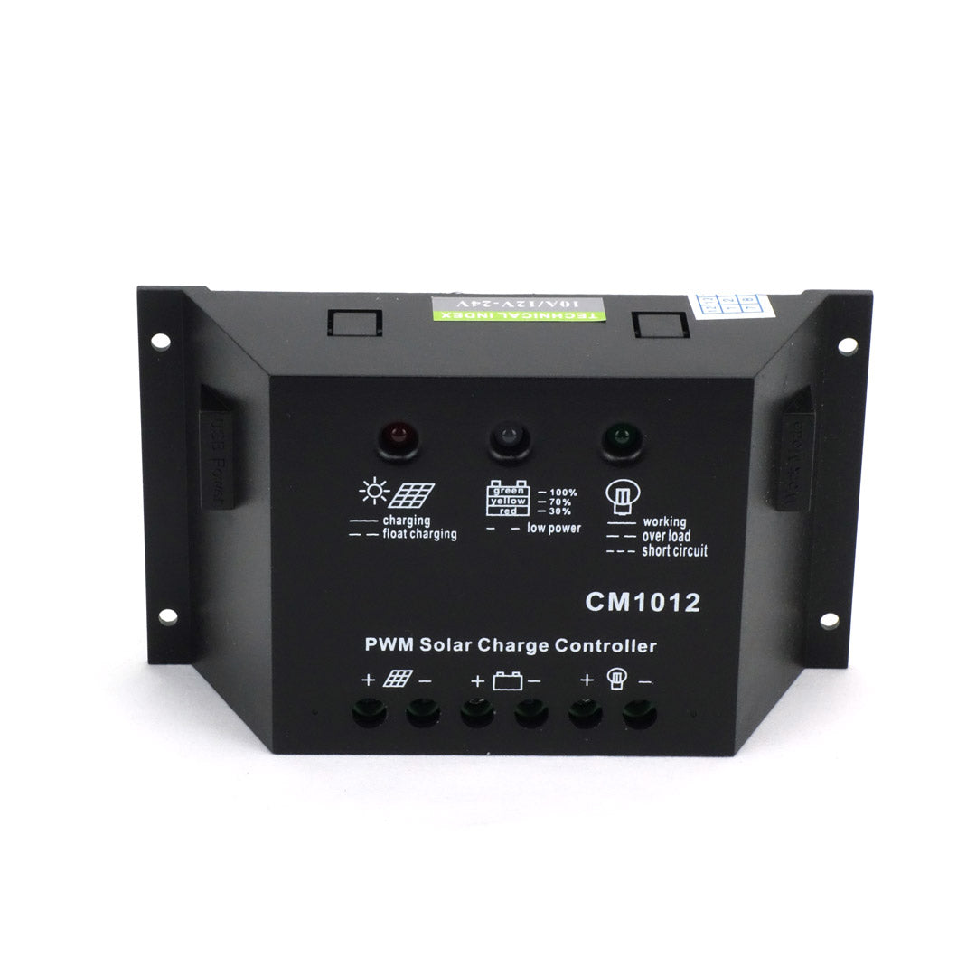 Felji 20W 12V Solar Panel + PWM 10A Charge Controller Battery Charger Kit