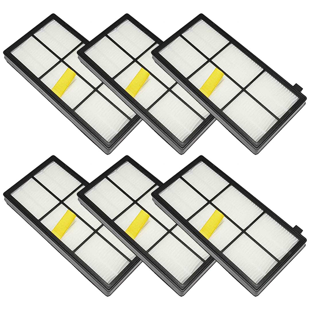Felji 6 Pack Replacement AeroForce High-Efficiency Filters For iRobot Roomba 800 and 900 Series Part # 4415864