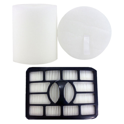 Felji HEPA Filter & Foam Filter Kit for Shark Rotator Pro Lift-Away NV500, Part # XHF500 & XFF500