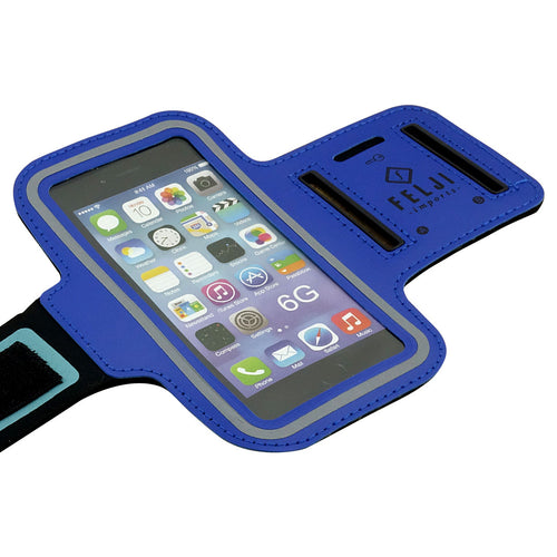 Felji Small Blue Sport Case Bag for Cellphone iPhone 6 6S 7 8 Samsung Galaxy